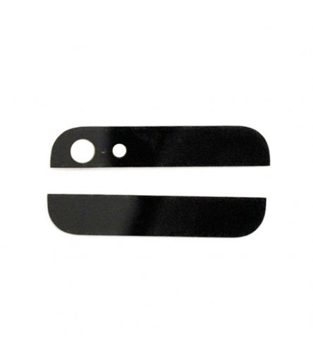 KIT 2 VETRI PER COVER POSTERIORE VETRO PER IPHONE 5 NERO BLACK SCOCCA BACK