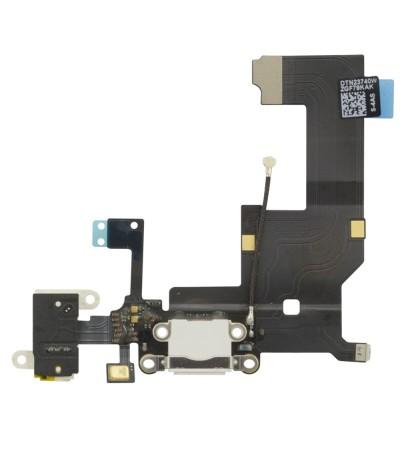 FLAT FLEX FLET PER IPHONE 5 DOCK RICARICA JACK CONNETTORE USB MICROFONO BIANCO