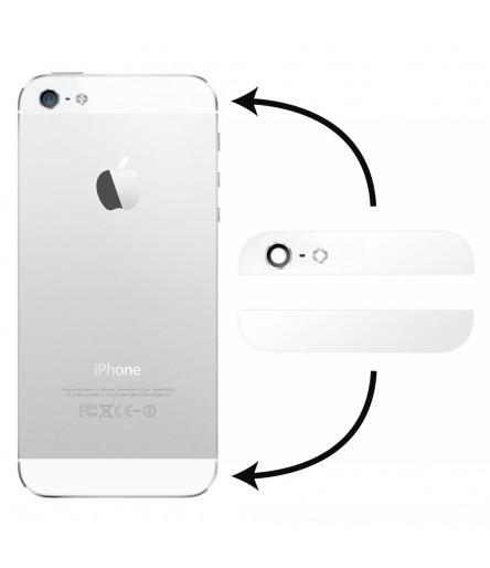 KIT 2 VETRI PER IPHONE 5 BIANCO COVER POSTERIORE VETRO WHITE SCOCCA BACK