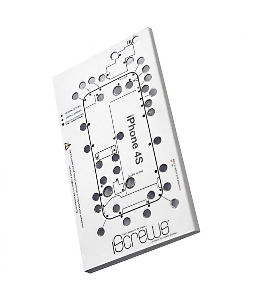 ISCREWS MAPPA VITI PER IPHONE 4S ISTRUZIONI RIPARAZIONE TOUCH DISPLAY LCD VETRO