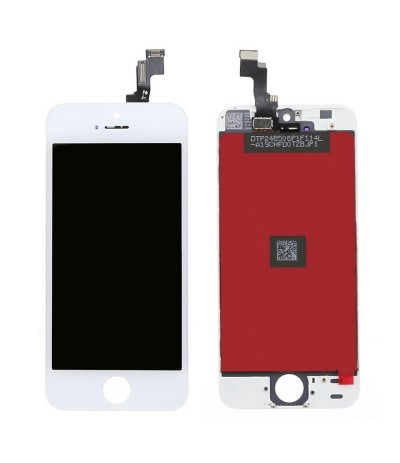 TOUCH SCREEN VETRO LCD DISPLAY RETINA SCHERMO PER APPLE IPHONE 5 SE 5SE BIANCO