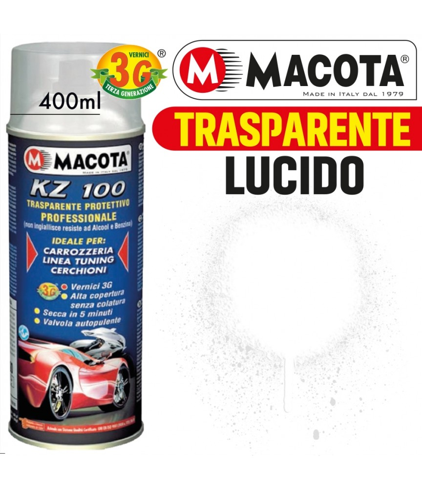 MACOTA KZ100 TRASPARENTE PROTETTIVO PROFESSIONALE OPACO LUCIDO VERNICE SPRAY