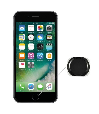 RICAMBI IPHONE | TASTO HOME NUOVO PER APPLE IPHONE 6 NERO