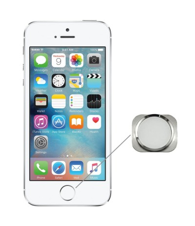 RICAMBI IPHONE | TASTO HOME NUOVO PER APPLE IPHONE 5s SILVER