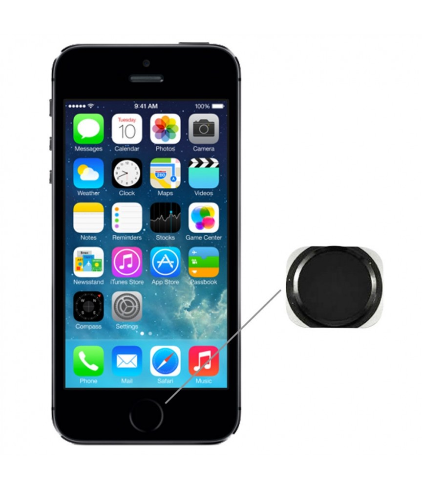RICAMBI IPHONE | TASTO HOME NUOVO PER APPLE IPHONE 5s NERO