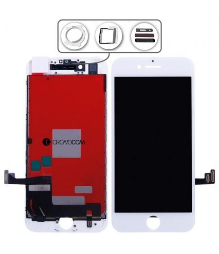 TOUCH SCREEN VETRO LCD DISPLAY RETINA SCHERMO PER APPLE IPHONE 8 BIANCO WHITE