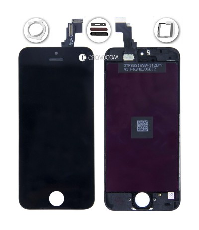 TOUCH SCREEN PER IPHONE 5C NERO VETRO DISPLAY SCHERMO LCD RETINA ASSEMBLATO