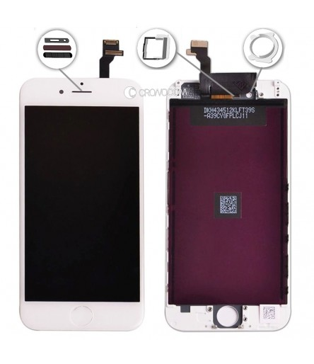 TOUCH SCREEN PER IPHONE 6 BIANCO FRAME VETRO LCD DISPLAY RETINA SCHERMO 4.7