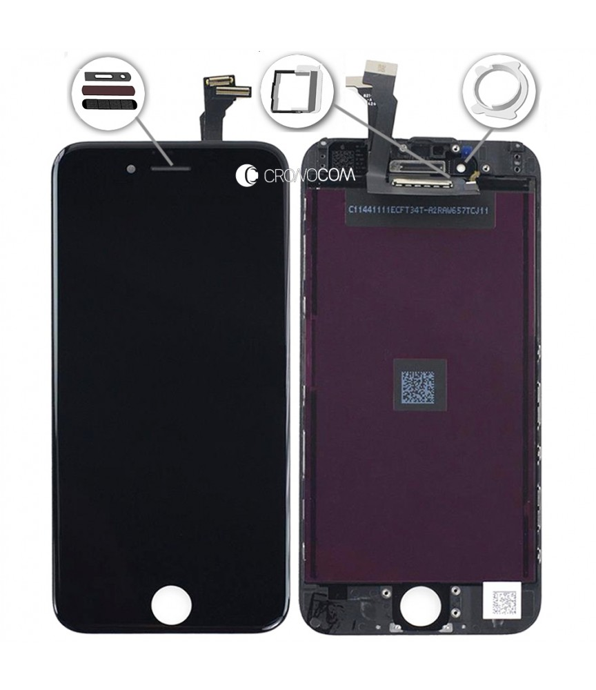 TOUCH SCREEN PER APPLE IPHONE 6 NERO FRAME VETRO LCD DISPLAY RETINA SCHERMO 4.7