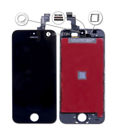 TOUCH SCREEN PER IPHONE 5S NERO VETRO DISPLAY SCHERMO LCD RETINA ASSEMBLATO