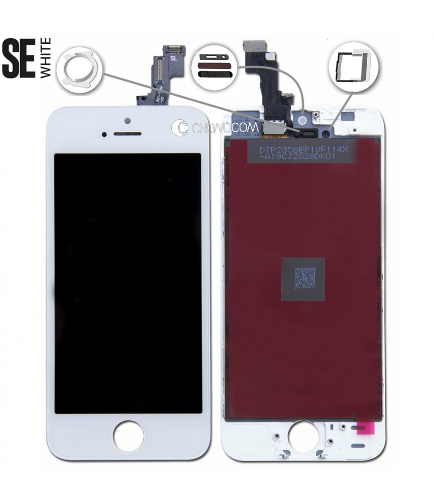 TOUCH SCREEN VETRO LCD DISPLAY RETINA SCHERMO PER APPLE IPHONE SE BIANCO