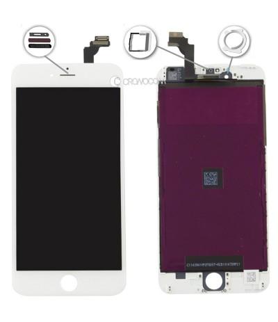 TOUCH SCREEN PER IPHONE 6 PLUS BIANCO FRAME VETRO LCD DISPLAY RETINA SCHERMO 5.5