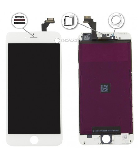 TOUCH SCREEN PER IPHONE 6 PLUS BIANCO FRAME VETRO LCD DISPLAY RETINA SCHERMO 5.5