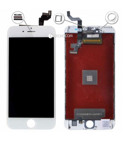 TOUCH SCREEN VETRO LCD DISPLAY RETINA SCHERMO PER APPLE IPHONE 6S PLUS BIANCO