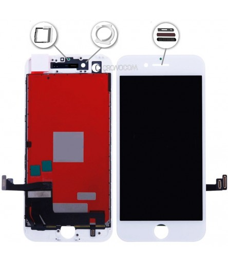 TOUCH SCREEN VETRO LCD DISPLAY RETINA SCHERMO PER APPLE IPHONE 7 BIANCO WHITE