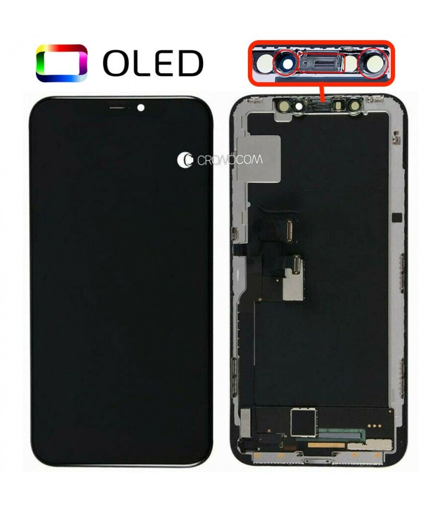 DISPLAY SCHERMO IPHONE X 10 NERO PER APPLE TOUCH SCREEN LCD QUALITA TOP OLED