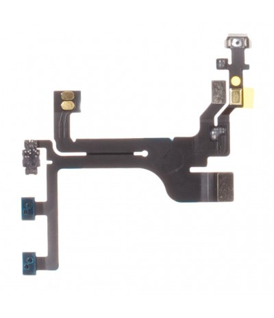 FLAT FLEX PER IPHONE 5S TASTO TASTI PULSANTE VOLUME MUTO MUTE ON/OFF POWER