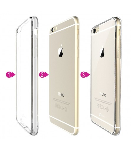 CRYSTAL COVER CUSTODIA CASE BUMPER PER APPLE IPHONE 6 PLUS 5,5 ULTRA SLIM TRASPARENTE