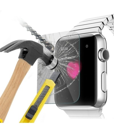 PELLICOLA PER APPLE WATCH 42mm PROTEGGI DISPLAY SCHERMO VETRO TEMPERATO ANTIURTO