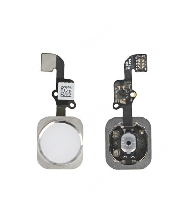 HOME FLEX PER IPHONE 6 BOTTON TASTO HOME APPLE IMPRONTA DIGITALE BIANCO SILVER