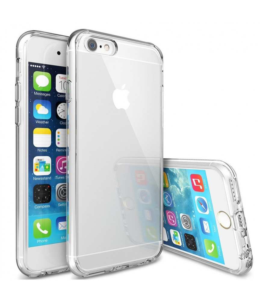COVER PER IPHONE 5S / 5 / SE APPLE TRASPARENTE MORBIDA CUSTODIA