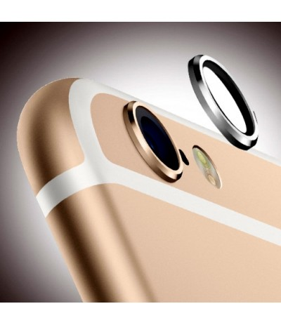 "RICAMBIO VETRO LENTE CAMERA POSTERIORE PER APPLE IPHONE 6 4,7"" ORO GOLD FRAME"