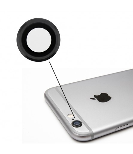 RICAMBIO VETRO LENTE CAMERA POSTERIORE PER APPLE IPHONE 6 4,7 DARK SILVER GRIGIO