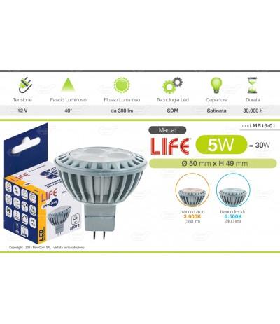FLY*LAMPADINE LED KANLUX ATTACCO GU5.3 MR16 DA 4W 7W LAMPADA COB SPOT PORTA FARETTO