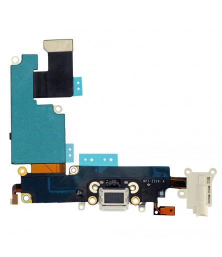 FLEX DOCK PER IPHONE 6 PLUS 5,5 CONNETTORE JACK CARICA DOCK MICROFONO AUDIO MUTE