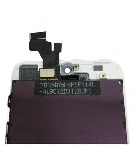 TOUCH SCREEN VETRO DISPLAY LCD SCHERMO MONITOR ASSEMBLATO PER IPHONE 5 BIANCO
