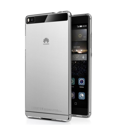 COVER BACK CASE TPU PER ASCEND HUAWEI P8 CUSTODIA SOFT SILICONE TRASPARENTE